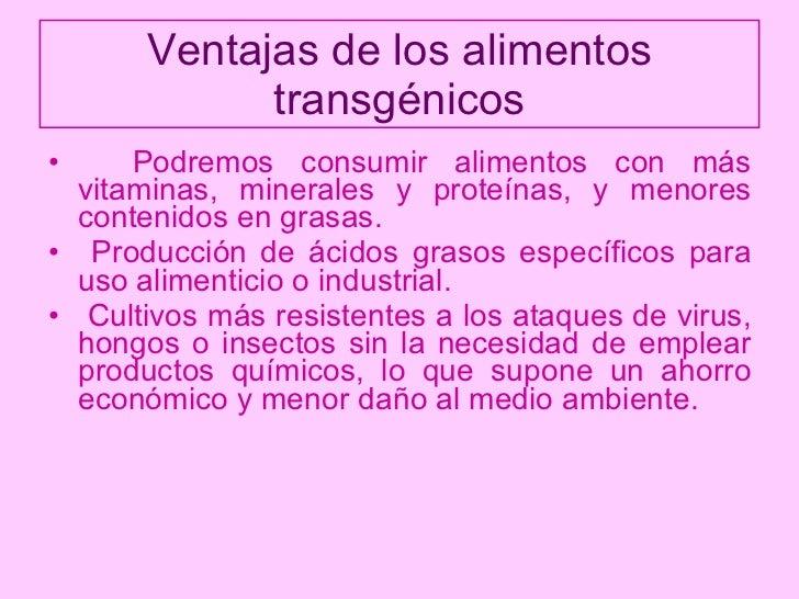 A favor de los alimentos transg nicos - Ventajas alimentos transgenicos ...