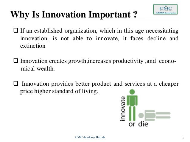Why is innovation important to the growth of organizations