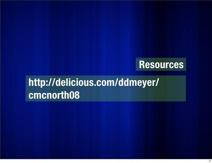 PowerPoint: Do No Harm (CMC-North 2008) Slide 3