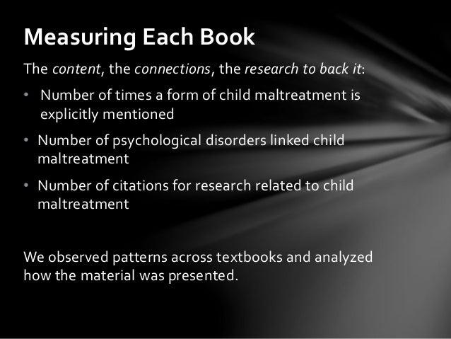 Psychopathology Linked To Trauma Teachtrauma >> Child Maltreatment In Abnormal Psychology Textbooks