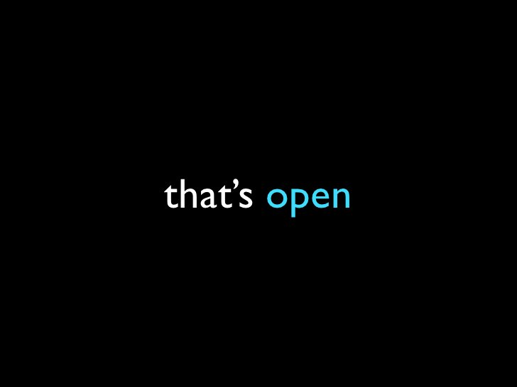 that's open