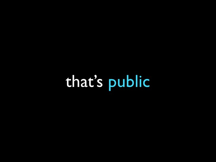 that's public