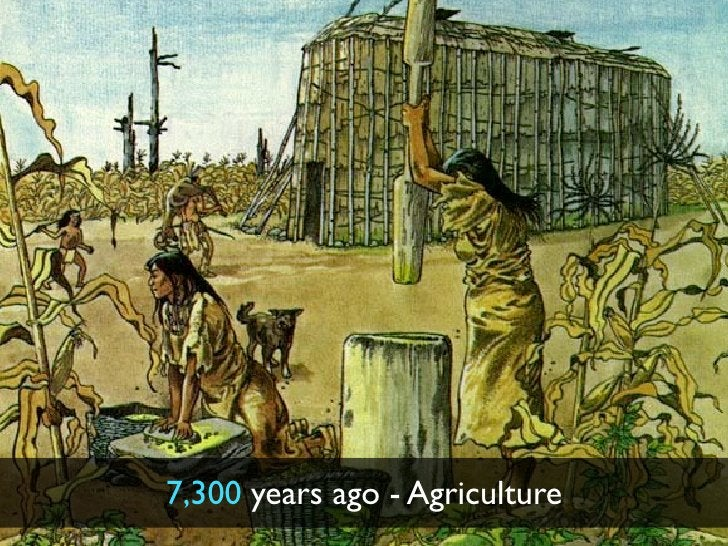 7,300 years ago - Agriculture