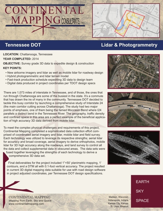 CONTINENTAL      it MAPP NGcoNsuiiAlis, ,.. _ M I        Tennessee DOT  LOCATION:  Chattanooga,  Tennessee YEAR COMPLETED:...