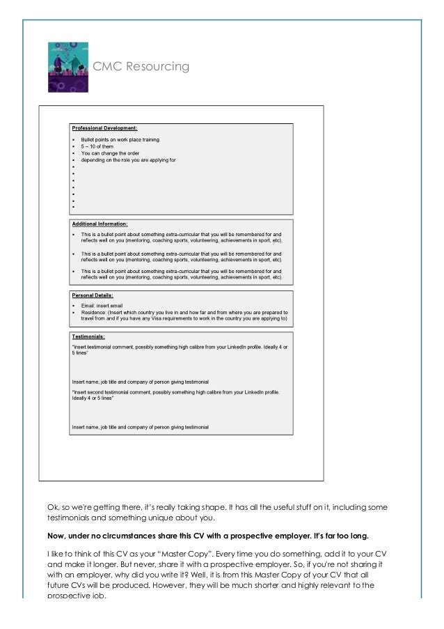 how to write the world u0026 39 s best change management cv  probably
