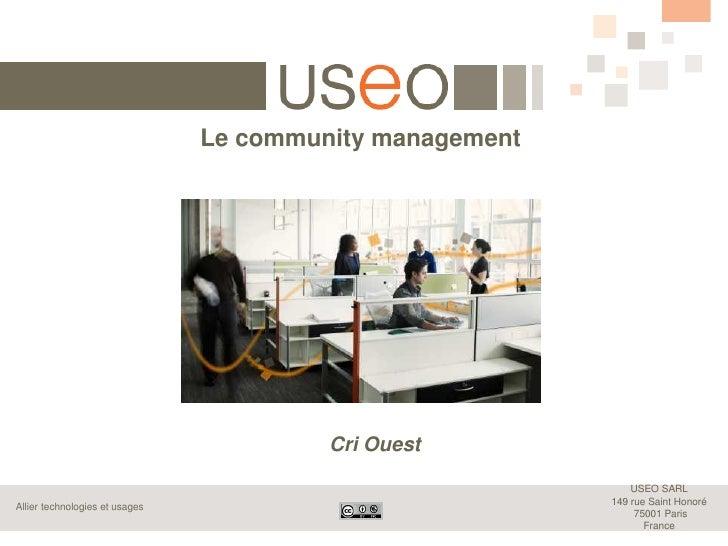 Le community management                                         Cri Ouest                                                 ...