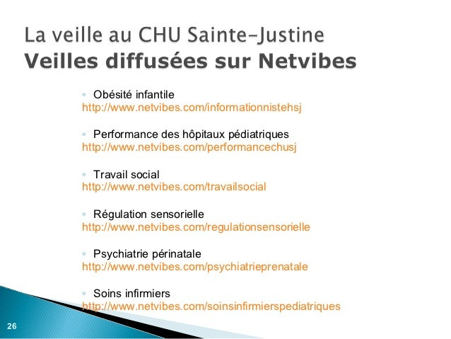 ◦ Obésité infantile     http://www.netvibes.com/informationnistehsj     ◦ Performance des hôpitaux pédiatriques     http:/...