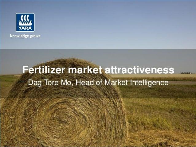 Fertilizer market attractiveness Dag Tore Mo, Head of Market Intelligence