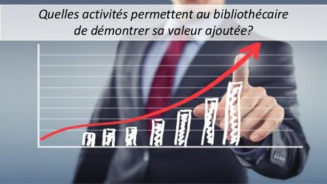 Quelles activités permettent au bibliothécaire de démontrer sa valeur ajoutée?