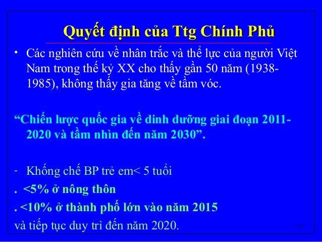 18 Quyết định của Ttg Chính PhủQuyết định của Ttg Chính Phủ • Các nghiên cứu về nhân trắc và thể lực của người Việt Nam tr...