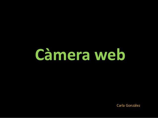 Càmera web         Carla González