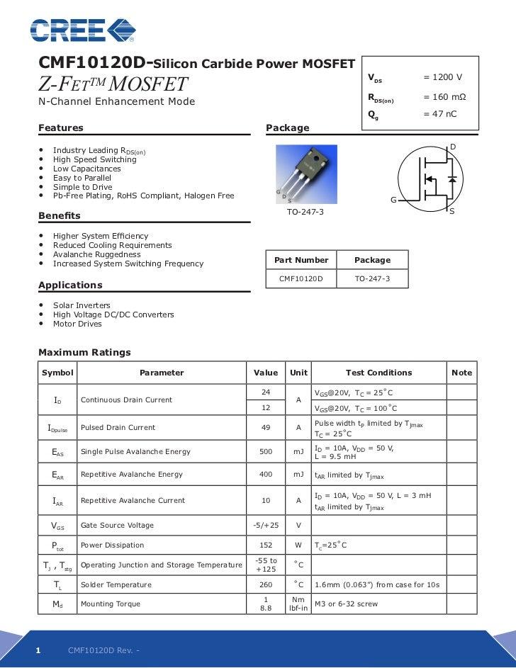 Datasheet of CMF10120D(SiC MOSFET)