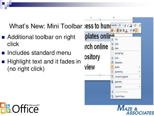 Enhancements and Features for Office 2007