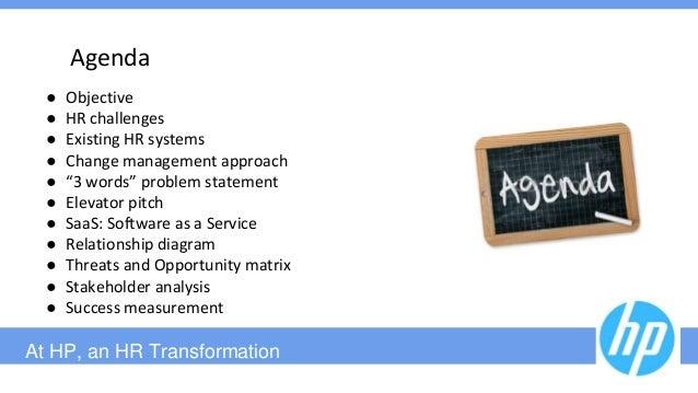 Organizational change hp