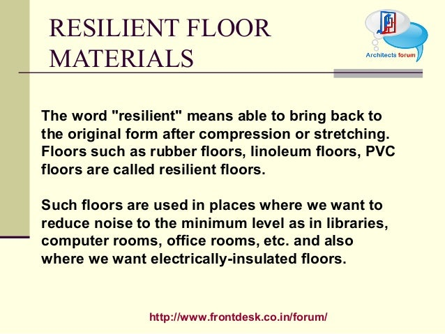 Floor Finish - Define resilient flooring