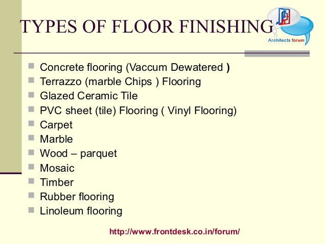 Types Of Floor Coverings Floor Finish