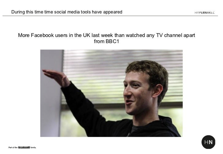 During this time time social media tools have appeared   More Facebook users in the UK last week than watched any TV chann...