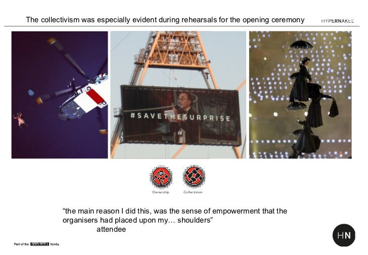 The collectivism was especially evident during rehearsals for the opening ceremony                                     Own...