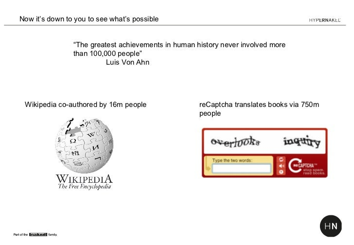 """Now it's down to you to see what's possible                """"The greatest achievements in human history never involved more..."""
