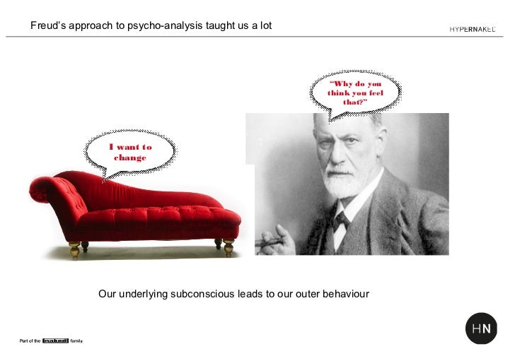 """Freud's approach to psycho-analysis taught us a lot                                                              """"Why do y..."""