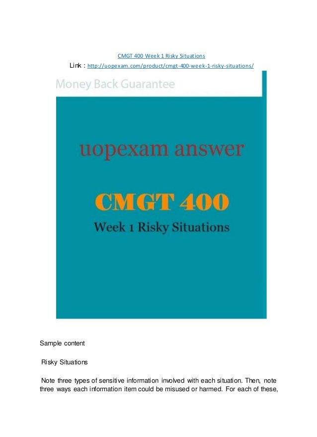 cmgt 400 Posts about cmgt 400 entire course material written by leonardodavinci535.