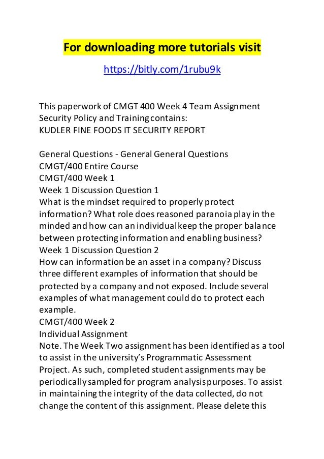 unit 4 assignment 1 security policy Unit 4: development through the life stages start date:  assignment 1 the  human lifespan criteria to be  related documents: unit 4 assignment essay   this is in my opinion, a claim of policy  the company has had issues previously  with security and physical problems with the software that is being produced.