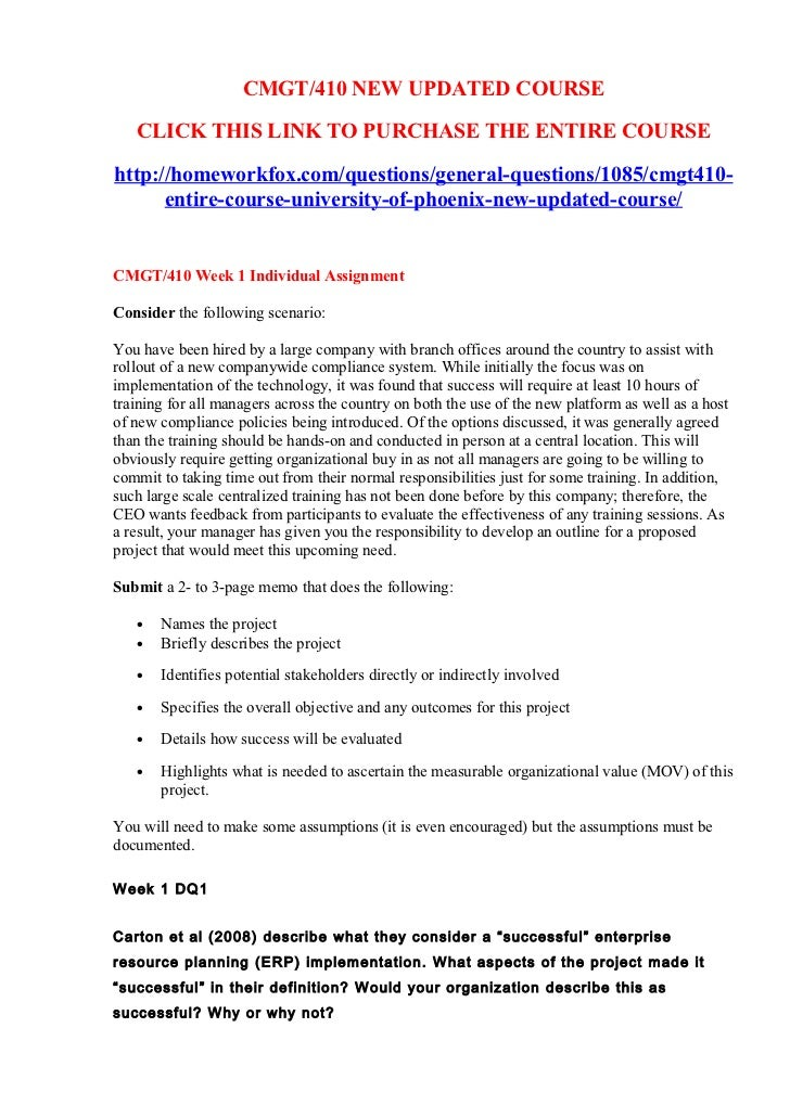 CMGT/410 NEW UPDATED COURSE   CLICK THIS LINK TO PURCHASE THE ENTIRE COURSEhttp://homeworkfox.com/questions/general-questi...