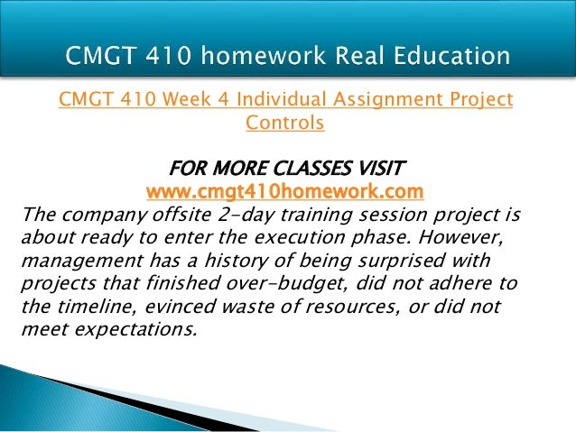 project budget cmgt 410 Cmgt 410 is a online tutorial store we provides cmgt 410 week 3 individual  assignment project budget.