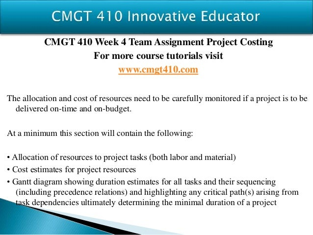 cmgt 410 week 5 project evaluation and control Cmgt 410 week 5 learning team project evaluation and control buy solutions: cmgt 410 week 5 learning team project evaluation and control.
