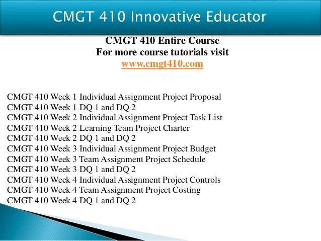 cmgt 410 week 4 project costing Cmgt 410 is a online tutorial store we provides cmgt 410 week 4 team  assignment project costing.