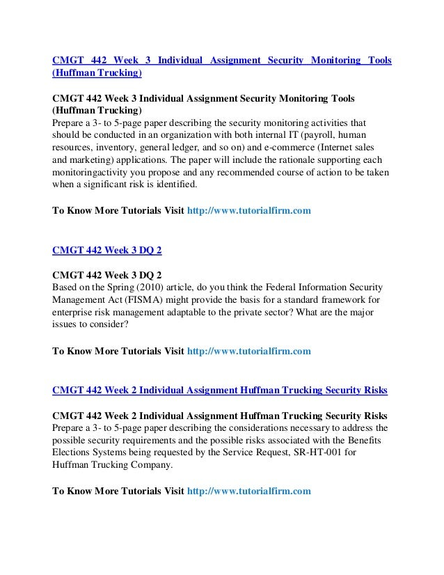 cmgt 442 security monitoring activities Snaptutorial provides cmgt 442 final exam guides we  prepare a 3- to 5-page paper describing the security monitoring activities that should be conducted in.