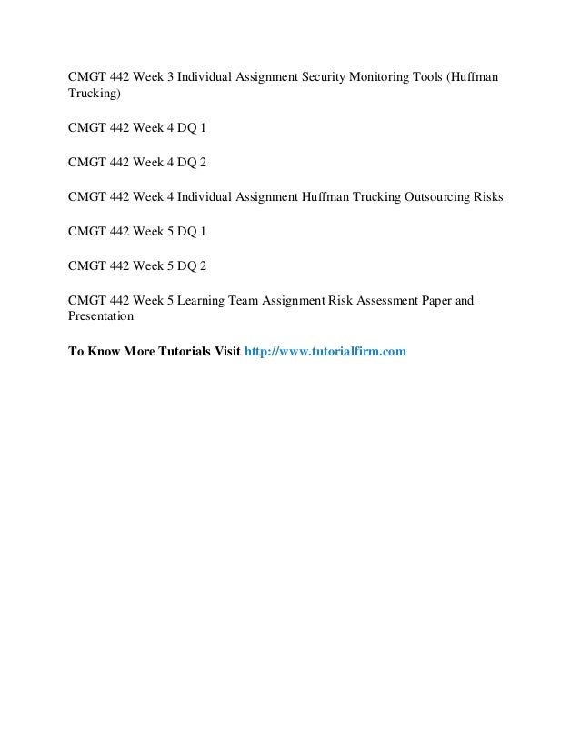 CMGT 442 (Information Systems Risk Management)Entire All Weeks