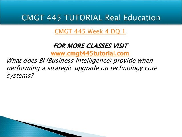 CMGT 445 WEEK 4 Supporting Activity