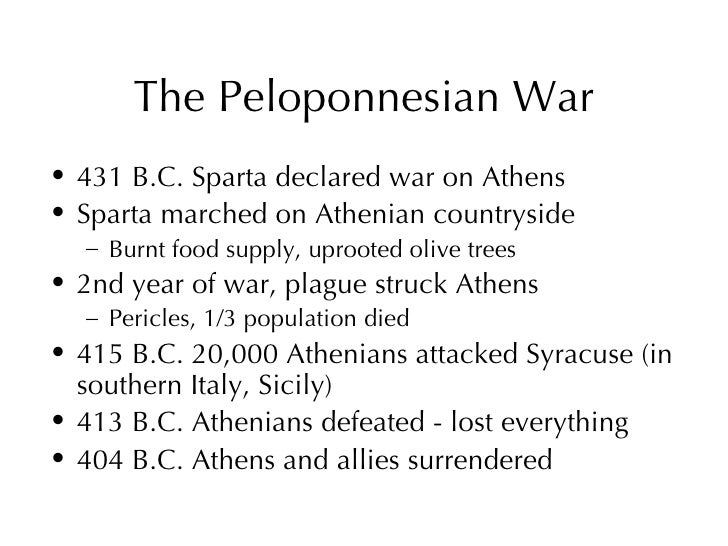 The Peloponnesian War and Philosophy