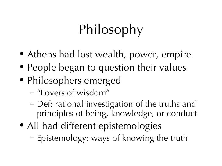 philosophical philosophy and rationalist utilized socratic Pre-socratic philosophy essay in addition, by using reasoning about the unseen ultimate nature of the cosmos he introduced a primitive rationalist method their work would be utilized by both plato and aristotle in their struggles against the sophists.