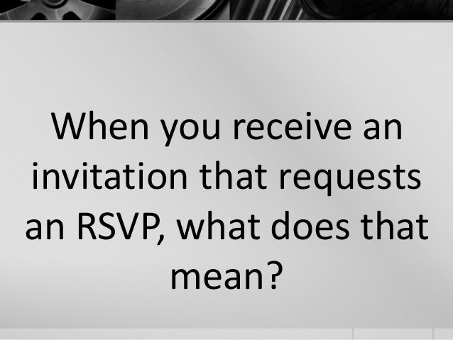 what is rsvp stand for