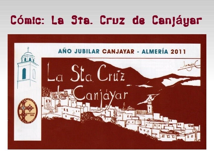 Cómic: La Sta. Cruz de Canjáyar