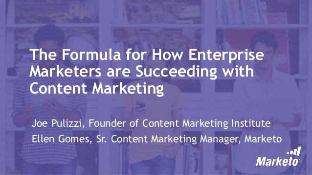 The Formula for How Enterprise Marketers are Succeeding with Content Marketing [RESEARCH]