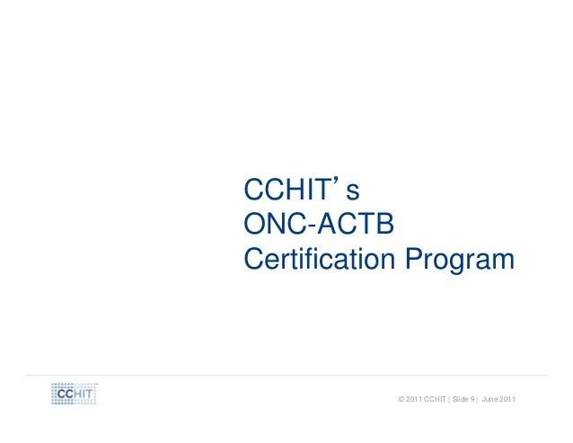 Cchit certified 2011 ltpac ehr certification