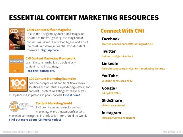 Essential Content Marketing Resources Chief Content Officer magazine  CCO is the first globally-distributed magazine devot...