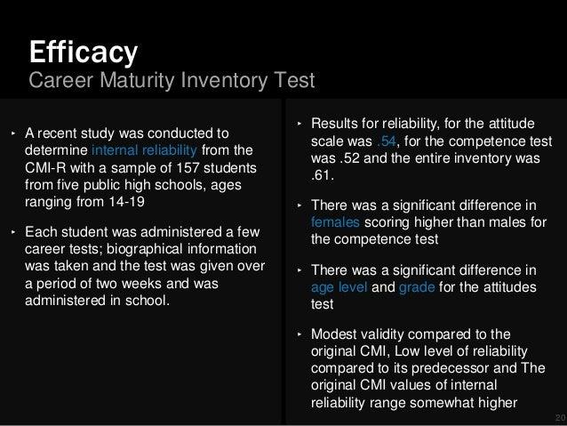 Career maturity inventory crites