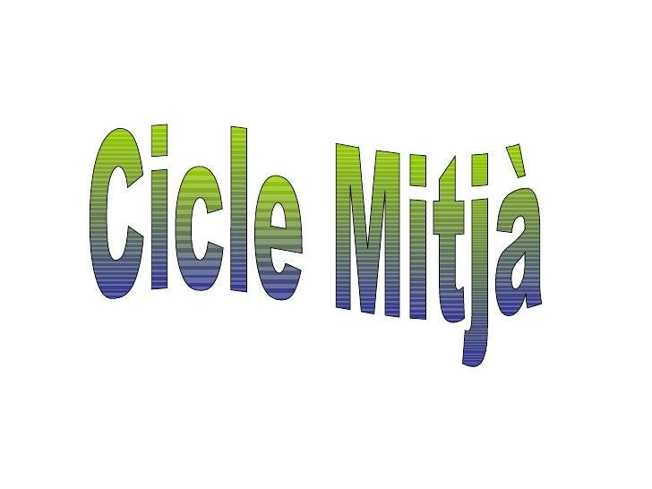 Cicle Mitjà