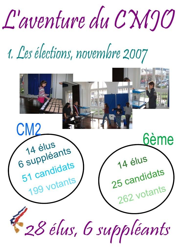 L'aventure du CMJO 1. Les élections, novembre 2007     CM2        élus t s                                6ème     14 léan...
