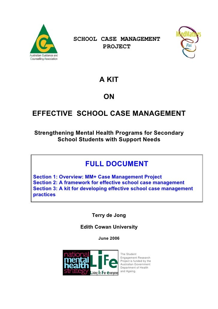 SCHOOL CASE MANAGEMENT                        PROJECT                          A KIT                            ONEFFECTIV...