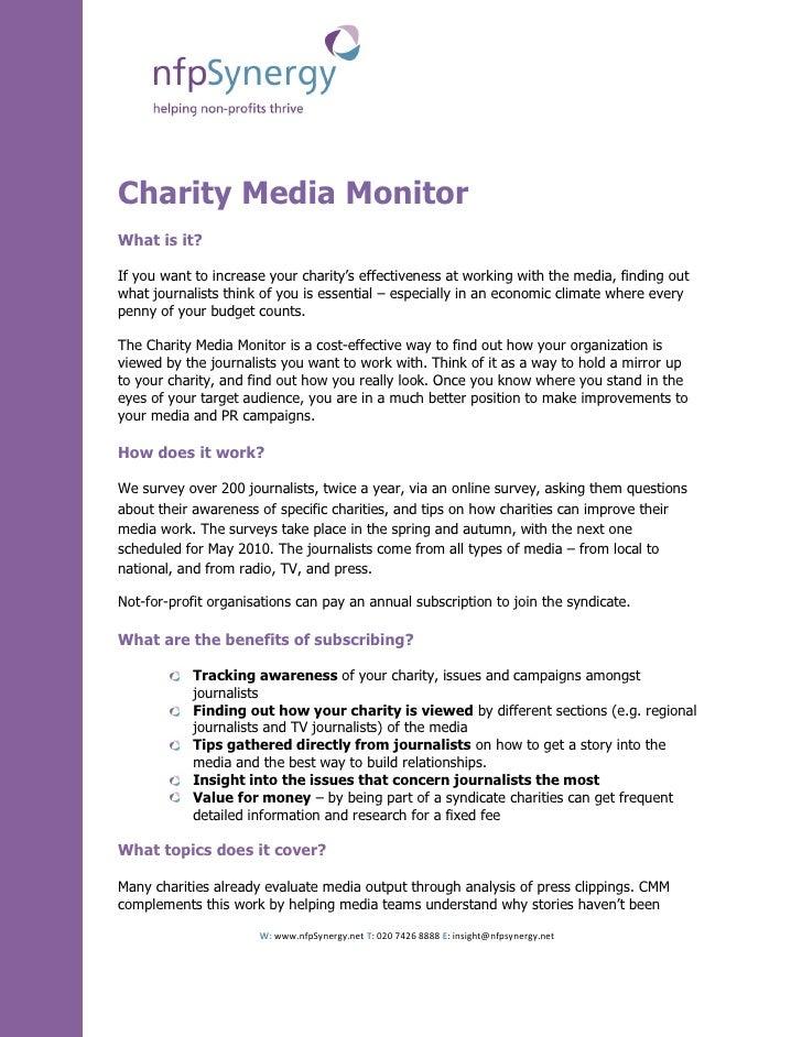 Charity Media Monitor