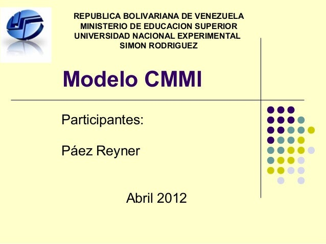 REPUBLICA BOLIVARIANA DE VENEZUELA   MINISTERIO DE EDUCACION SUPERIOR  UNIVERSIDAD NACIONAL EXPERIMENTAL           SIMON R...