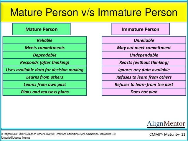 Signs of an immature person