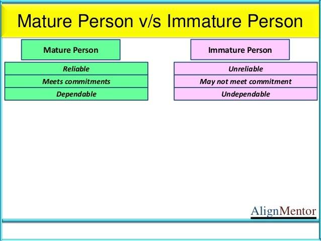 Immature vs mature