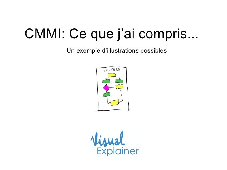 CMMI: Ce que j'ai compris...  Un exemple d'illustrations possibles