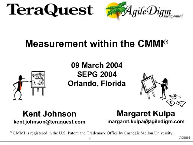 Measurement within the CMMI®                                   09 March 2004                                    SEPG 2004 ...